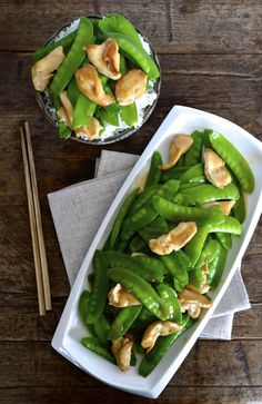 Chicken Snow Peas Stir-fry, healthy-yummy-good eats! #chicken #snowpeas