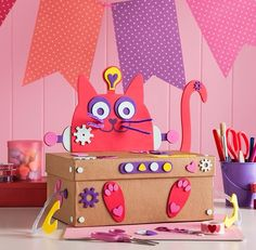 diy valentines box craftbnb cat valentine box
