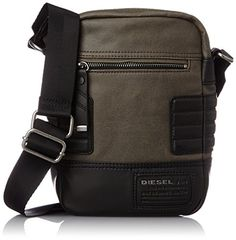 Diesel Men's Urban Core Slim Cross Cross Body Bag #bag http://www.allbodybag.com/diesel-mens-urban-core-slim-cross-cross-body-bag/  Diesel Men's Urban Core Slim Cross Cross Body Bag Mix materials cross body bag small