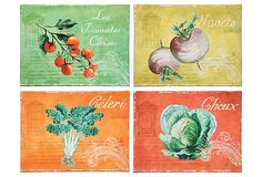 4 Asst. Tin Vegetable Plaques on OneKingsLane.com