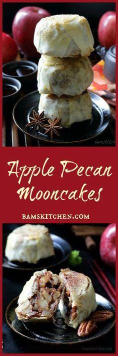 Apple Pecan Mooncakes / MOONCAKES/ AUTUM FESTIVAL/ CHINESE FESTIVAL APPLES/ BAKED/ FUN ALTERNATIVE to the STANDARD MOONCAKE/ LANTERN FESTIVAL/ HONG KONG/ CHINA/ PECANS/ FALL FAVORITE RECIPES/ https://www.hwcmagazine.com