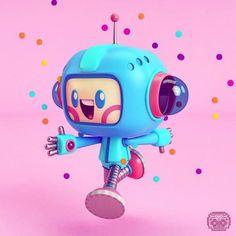 Mas Modelados Kawaii a project by adrian_design. Design Alien, Design 3d, Robot Design, Character Design Cartoon, 3d Character, Character Concept, Robots Characters, Cute Characters, Robot Cute