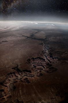 Grand Canyon from space.
