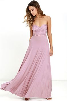 Lulus Exclusive! Versatility at its finest, the Tricks of the Trade Mauve Maxi…
