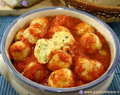 Polpette Bianca ~ White Meatballs ~ I make mine w/ricotta cheese & spinach...meatless bundles of deliciousness!