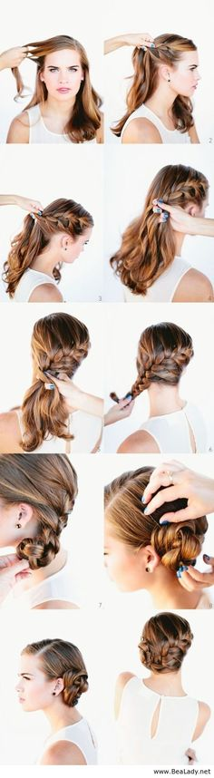 Pinned some of these before but it has some new ones I really like! 15 Simple and Cute Hairstyle Tutorials and Ideas for 2014 - BeaLady.net