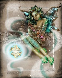 LIMITED...Pisces... ACEO / ATC.. Fantasy by mysticmoonmedia
