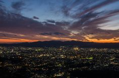 The sunset time of Kyoto (from Daimonji-Yama) / 京都の夕日(大文字山より)