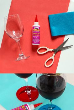 Don't mix up your drinks by using DIY felt wine glass markers made with Beacon Felt Glue! Felt Glue, Wine Glass Markers, Felt Diy, Adhesive, Drinks, Projects, Felt, Cleaning, Drinking