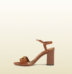 leather mid-heel t-strap sandal