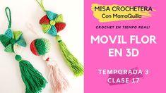 MÓVIL FLOR EN 3D - Crochet En Tiempo Real Con mamaQuilla!