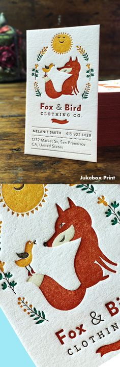 Cute Letterpress Business Cards produced on Cotton… see more at yp4s.com