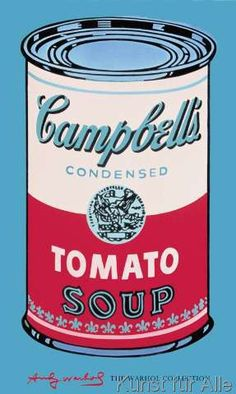 Andy Warhol - Campbell's Soup Can, 1965 (pink & red)