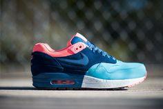 Nike Air Max 1 Premium - Gamma Blue / Brave Blue - Black - Atomic Pink | KicksOnFire.com