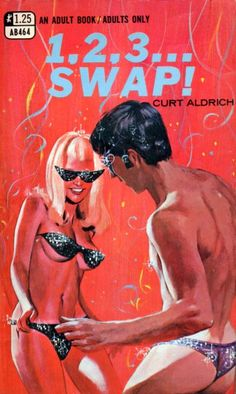 1.2.3... SWAP! Adult Books, publication date unknown. Why is she wearing sunglasses on her chest?