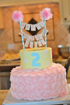 Take a look at the birthday cake at this Shabby Chic Cowgirl Birthday Party! See more party ideas and share yours at CatchMyParty.com