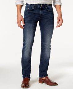 Boss Hugo Boss Delaware Navy Wash Faded Jeans