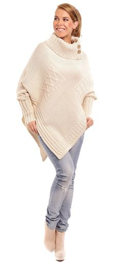 Poncho model 45837 Lemoniade. Akryl 100 %  		  			 				 					 Size Total lenght Sleeve external lenght Chest  				 			 one-size-fits-all 78 cm 60 cm 200 cm