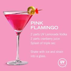 Pink Flamingo...definately willl be my signature wedding drink!