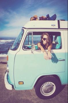 Travel the world in a turquoise Volkswagen surf van The Last Summer, Summer Of Love, Summer Days, Summer Vibes, Summer Fun, Summer Beach, Summer 2014, Location Camping Car, Vw Camping