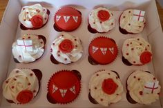st george's day cupcakes - Google Search