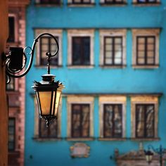 Blue, Warsaw, Stare Miasto (Old Town), Poland Places Around The World, Oh The Places You'll Go, Warsaw Old Town, Warsaw Poland, Green House Design, Central And Eastern Europe, Poland Travel, Lantern Post, Street Lamp