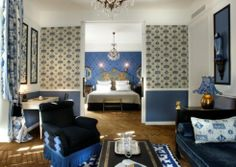 While some modern French hotels adopt a minimalist approach to interior design, there'll always be a place for classic maximalist spaces, like this room at Saint James. The lavish boutique. Saint James Paris, Architecture Design, Hotels In France, Parisian Decor, Girl House, Red Interiors, French Interiors, Paris Hotels, Home Look