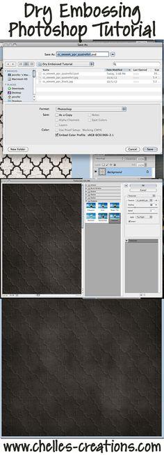 Works in PS & PSE  http://www.chelles-creations.com/2012/dry-embossing-tutorial-digital-scrapbooking-skills/