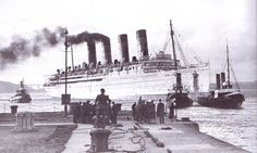 The sunset for a great liner and Blue Riband champion for 22 years--Cunard's magnificent Mauretania