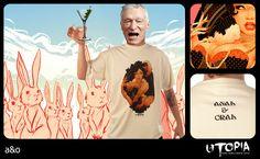 http://www.facebook.com/UtopiaLux  Unusual tshirt design.  #playboy #tshirt #rabbit #hugh #heffner #drink #funny #sick #sexy