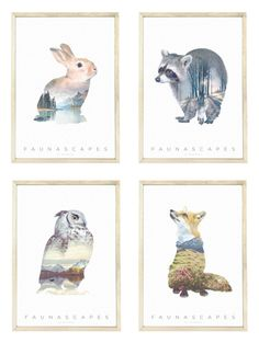Faunascape A3 Poster Set by WhatWeDo by WhatWeDoDK on Etsy