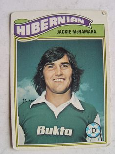Topps 1978 Scottish Green Backs No 72 Jackie McNamara of Hibernian Retro Football, Tartan, Celtic, Scotland, Soccer, Baseball Cards, Sports, Ebay, Hs Sports