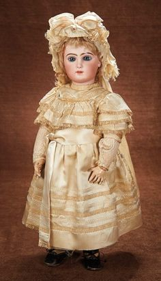 At Play in a Field of Dolls (Part 1 of 2-Vol set): 20 Beautiful French Bisque Bebe Jumeau,Size 11,in Fine Original Dress and Bonnet