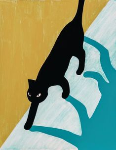 January 2016 CatPrint Artist of the Month – Randall Christopher Black Cat Art, Black Cats, Black Cat Drawing, Illustrator, Posca Art, Image Chat, Diy Canvas Art, Art Inspo, Comic Art
