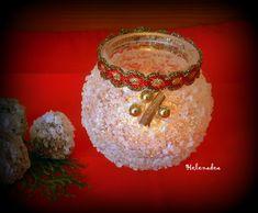 Svietnik s ľadovým efektom zo soli. Geniálne jednoduché!  Vianočné dekorácie | Artmama.sk