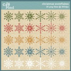 Christmas Clip Art  snowflake  scrapbooking clipart by TheCoyPond