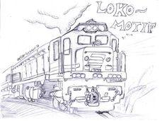 "57 Likes, 4 Comments - Farin Wahyu Rachman (@farinyura) on Instagram: ""locomotive ~ pencil ~ trip . . sketch lokomotif yang ku kerjaan untuk mengisi waktu luang sembari…"""
