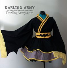 Batman Cosplay Kimono Dress Wa Lolita Skirt Accessory | Darling Army
