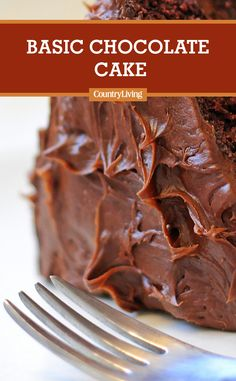 Less is more when it comes to this basic chocolate cake batter. Use a whisk, but stir, rather than whip, the room-temperature ingredients together. Delicious Cake Recipes, Cupcake Recipes, Yummy Cakes, Cupcake Cakes, China Food, Basic Cake, Living Magazine, Cake Batter, Frostings