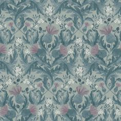 The wallpaper Thistle - 7204 from Boråstapeter is a wallpaper with the dimensions x m. The wallpaper Thistle - 7204 belongs to the popular wallpaper c Wallpaper Online, Of Wallpaper, Designer Wallpaper, Beautiful Wallpaper, Thistle Wallpaper, Floral Pattern Wallpaper, Inspirational Wallpapers, Blue Wallpapers, Vintage Roses