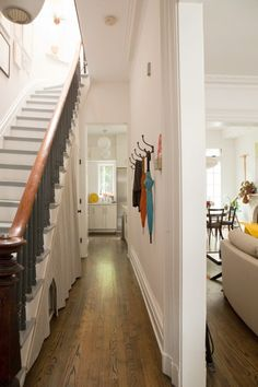 White Walls / Wood Floors – a Gallery Oak Floor Stains, Brownstone Interiors, Townhouse, Bedroom Wood Floor, Red Oak Floors, Wood Floor Design, Bedroom Layouts, Bedroom Ideas, Wooden Flooring