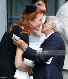 Sarah Ferguson, Duchess of York greets Willie Carson as they attend the King George VI Weekend at Ascot Racecourse on July 2016 in Ascot, England. Get premium, high resolution news photos at Getty Images Language And Society, Healthcare News, King Fashion, Men's Fashion, Sarah Ferguson, Duchess Of York, Teacher Education, King George, Wedding Images