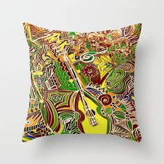 Dance to the Music, Naturally! Throw Pillow by RokinRonda - $20.00