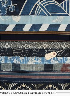 Sri Threads has a beautiful, ever-evolving collection of antique Japanese textiles never ceases to amaze us.