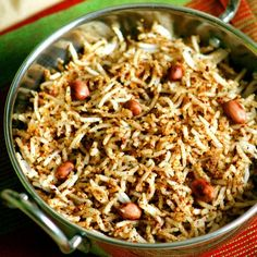 A simple and quick lunch box recipe by using just 3 ingredients - this peanut rice is a tasty one to pack for your kids tiffin too !!!