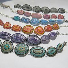 #bijoux #peintalamain #creation #l'atelierdespoissonsrouges #bracelet