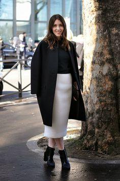 Monochrome Fashion Trend, Paris Fashion week, image by StunningStreetstyle