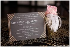 This glam invitation