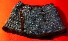 Mini saia em lã