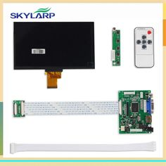 buy skylarpu 1024600 ips screen display lcd tft monitor ej070na 01j with remote driver control board 2av #pi #controller